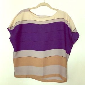 Ann Taylor Loft Flowy Striped Shirt